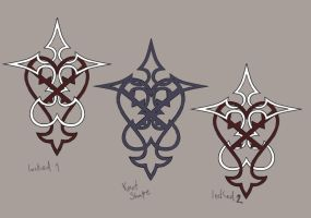 Kingdom Hearts tattoo drafts by thyghostboy