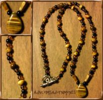 Tiger Tears Necklace by RavingEagleMedia