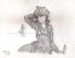 Sword Art Online Kirito (Original Sketch) by kikutakashi