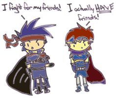 Ike and Roy - Colored by Tsuchi-Ookami-Kun