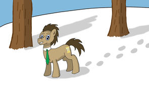 Doctor Whooves' winter stroll by RedtoxinDash