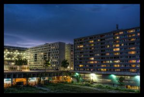 Apartment blocks, vienna by penner2000