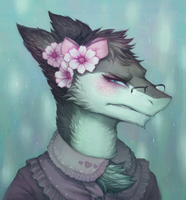 Lark Portrait by cassetterecorder