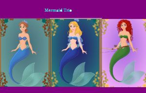 Merida Alice and I as Mermaids by WDisneyRP-Wendy