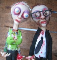 custom zombie cake topper by mealymonsterland