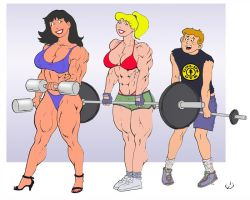 The Gang Hits The Weights by yatz