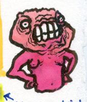Little Marker Monster: Angry Big Head by jbyrd117