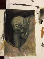 monster -now in watercolor! by zafroghippo