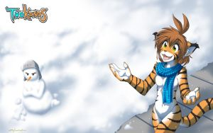 Snow Tiger Winter Wallpaper by Twokinds