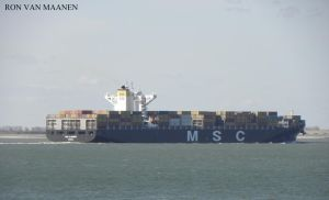 Liberian container ship MSC Alghero 2013- by roodbaard1958