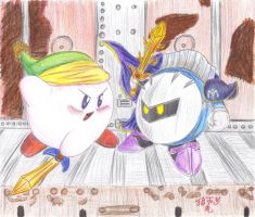 COLOR - Kirby and Meta Knight by Lionofdemise