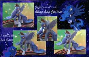 My little Pony FIM Luna BB Custom #2 by Asukatze