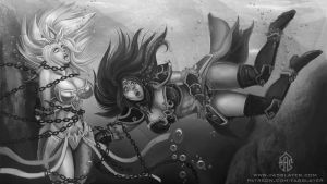 commission - Janna and Sivir by FASSLAYER