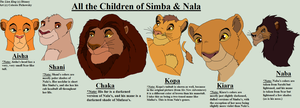 All of Simba+Nala's Children by CelesteStorywriter