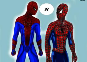 meeting of the two spiderman!! by johnnykoru