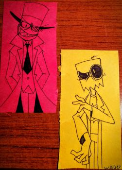 Villainous: Black Hat and Dr.Flug by Zimandchowder4evr