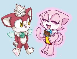 Chip and Mew by sonicthehedgehog96