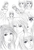 My Styles of Drawing by Vallia