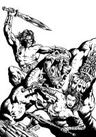 MYTHOS issue 10 cover art bw by RubusTheBarbarian