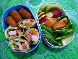 crabstick wrap bento by plainordinary1