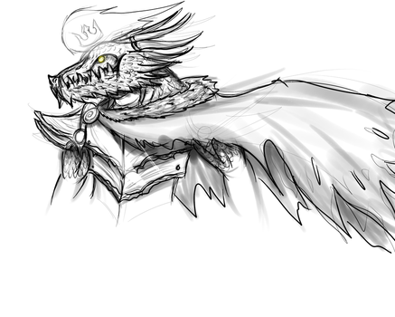 Dragon King: J'zar  Sketch by k-the-dragonknight