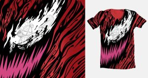 Crimson Carnage - Threadless Tee by BenjaminAng