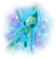 Celebi a Timeless Encounter by Chicorii