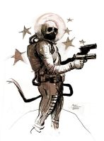 Space Skull Packin Heat by SPACESKULL