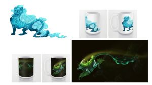 Wave and Evanescence Mugs and Prints by francis-john