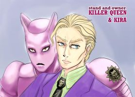 Killer Queen and Kira by LizUsui
