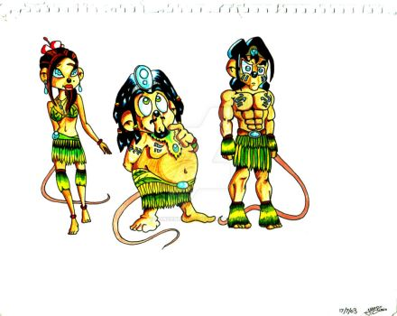 Mouses Island Character Concept Art (2003) by DonCentrique