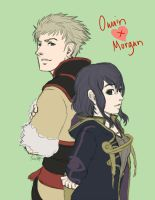 Owain and Morgan - Partners in War and in Peace by RoyLover