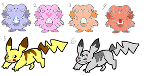 Pokemon Adoptables I by TheRealTilsa