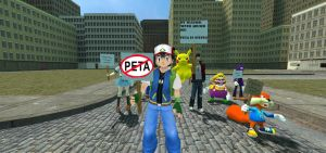 Gmod- Ash and Pikachu protesting peta by jayemeraldover9000x
