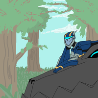 A bot and his Dino by TVCranium