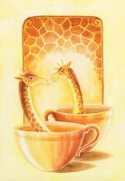 Giraffe Coffee by TrollGirl