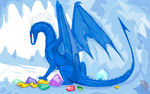 Azure Dragon, Heroes III by Flying-With-Dragons