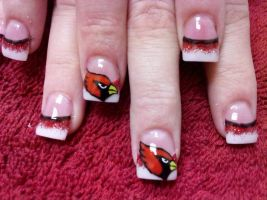 Arizona Cardinals - Nail Art by DignifiedDoll