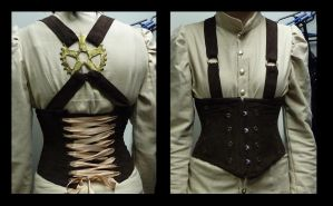Steampunk corset V.2 by silentplace