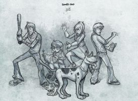 Scooby Doo - The team by petipoa