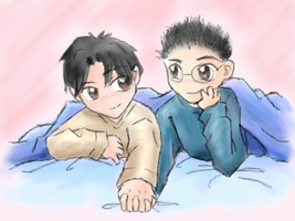 Eydt and Tenou Sleepover by Paramnesia