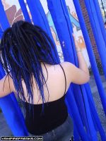 Sarahs Blue Dreads Installed by miss-candi