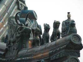 Roof Guardians Statue 06 by Ghost-Stock