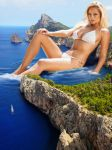 Genevieve Morton relaxes in a cove by Tiny-Little-Lisa