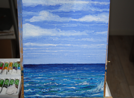 My first seascape painting by James-B-Roger