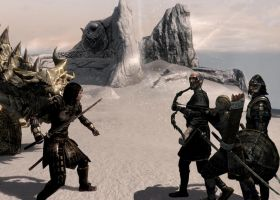 Defending Paarthurnax - Dovahkiin VS Blades, pic 2 by JaneShepard89