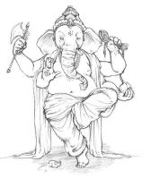 Old Ganesha by misshatter
