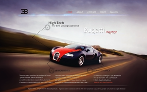 Bugatti Website by DanieLSsTyLe