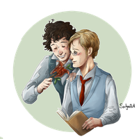 LesMis: Grantaire et Combeferre by SarlyneART