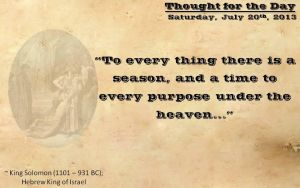 Thought for the Day - July 20th, 2013 by ebturner